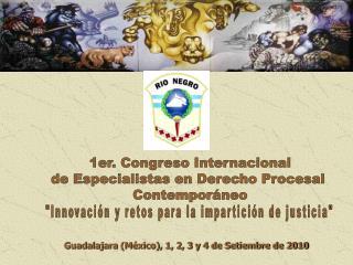 1er. Congreso Internacional de Especialistas en Derecho Procesal  Contemporáneo