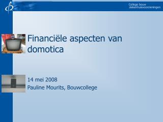 Financiële aspecten van domotica