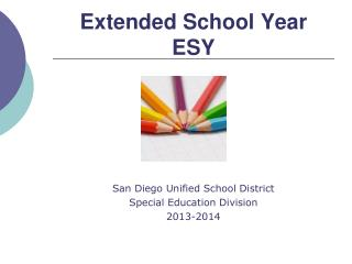 Extended School Year ESY