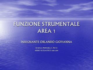 FUNZIONE STRUMENTALE AREA 1