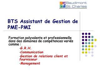 BTS Assistant de Gestion de PME-PMI