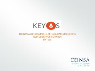 PROGRAMA DE DESARROLLO DE HABILIDADES ESENCIALES PARA DIRECTIVOS Y MANDOS SÍNTESIS