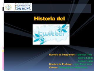 Nombre de Integrantes:  - Manuel Trejo                                           - Valeria Lagos