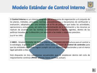 Modelo Estándar de Control Interno