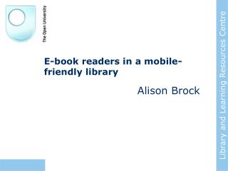 E-book readers in a mobile-friendly library