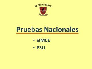 Pruebas Nacionales