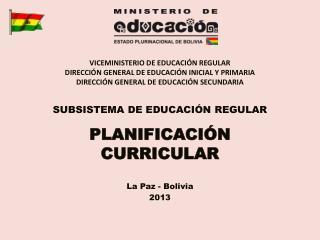 VICEMINISTERIO DE EDUCACIÓN REGULAR