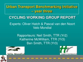 Urban Transport Benchmarking Initiative   year three