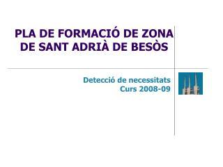 PLA DE FORMACIÓ DE ZONA  DE SANT ADRIÀ DE BESÒS
