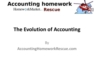 The evolution of accounting