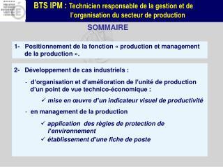 2-   Développement de cas industriels :