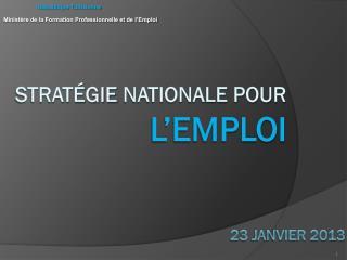 Stratégie  nationale pour l'emploi