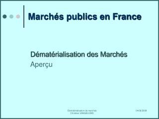 Marchés publics en France