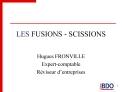 LES FUSIONS - SCISSIONS