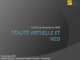 Réalité virtuelle et WEB