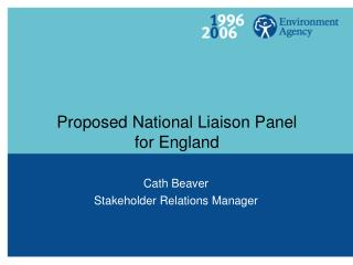 Proposed National Liaison Panel for England