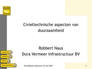 Civieltechnische aspecten van duurzaamheid Robbert Naus Dura Vermeer Infrastructuur BV