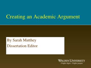 Creating an Academic Argument