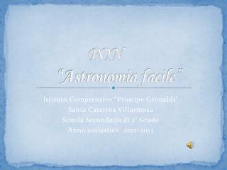 """PON         """"Astronomia facile"""""""