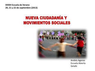 NUEVA CIUDADANÍA Y  MOVIMIENTOS SOCIALES