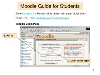 Moodle Guide for Students