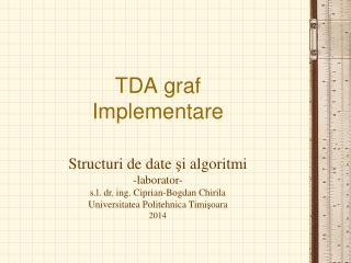 TDA graf Implementare