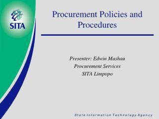 Procurement Policies and Procedures