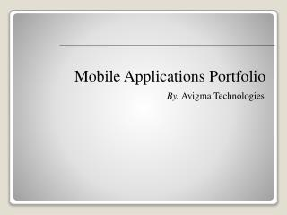 Mobile Applications Portfolio