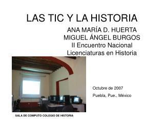 LAS TIC Y LA HISTORIA