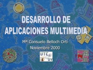 Mª Consuelo Belloch Ortí Noviembre 2000