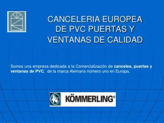 CANCELERIA EUROPEA DE PVC PUERTAS Y VENTANAS DE CALIDAD
