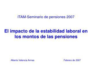 ITAM-Seminario de pensiones 2007