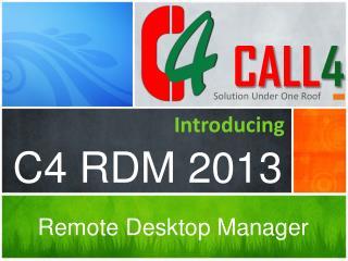 C4 RDM  2013