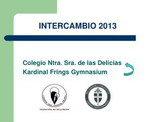 INTERCAMBIO 2013