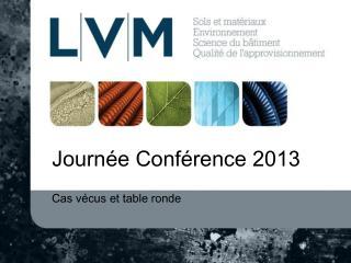Journée Conférence 2013