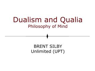 Dualism and Qualia Philosophy of Mind