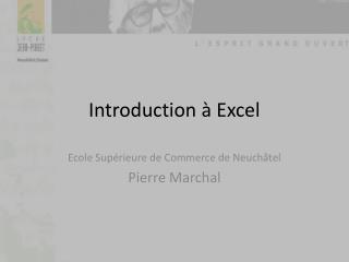 Introduction à Excel