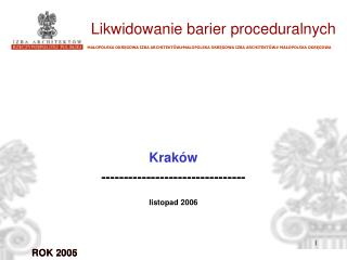 Kraków  -------------------------------- listopad 2006