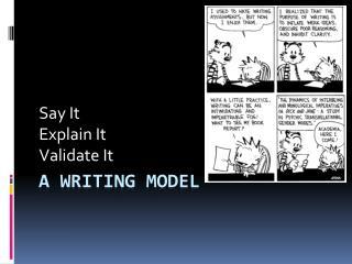 A Writing Model