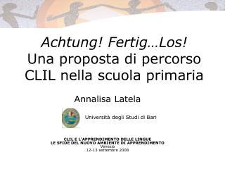 Achtung! Fertig…Los! Una proposta di percorso CLIL nella scuola primaria