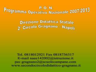 P. O. N.  Programma Operativo Nazionale 2007/2013 Direzione Didattica Statale