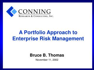 A Portfolio Approach to Enterprise Risk Management