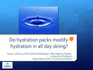 Do hydration packs modify hydration in all day skiing?