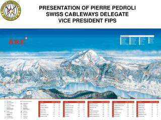 PRESENTATION OF PIERRE PEDROLI SWISS CABLEWAYS DELEGATE VICE PRESIDENT FIPS