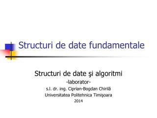 Structuri de date fundamentale