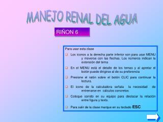 MANEJO RENAL DEL AGUA