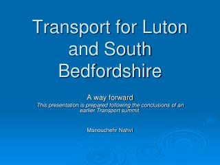 Transport for Luton and South Bedfordshire