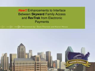 New!! Enhancements to Interface Between  Skyward  Family Access and  RevTrak  from Electronic