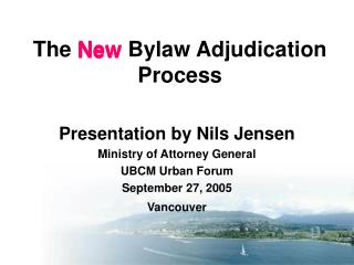 The  New  Bylaw Adjudication Process