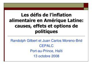 Les défis de l'inflation alimentaire en Amérique Latine: causes, effets et options de politiques